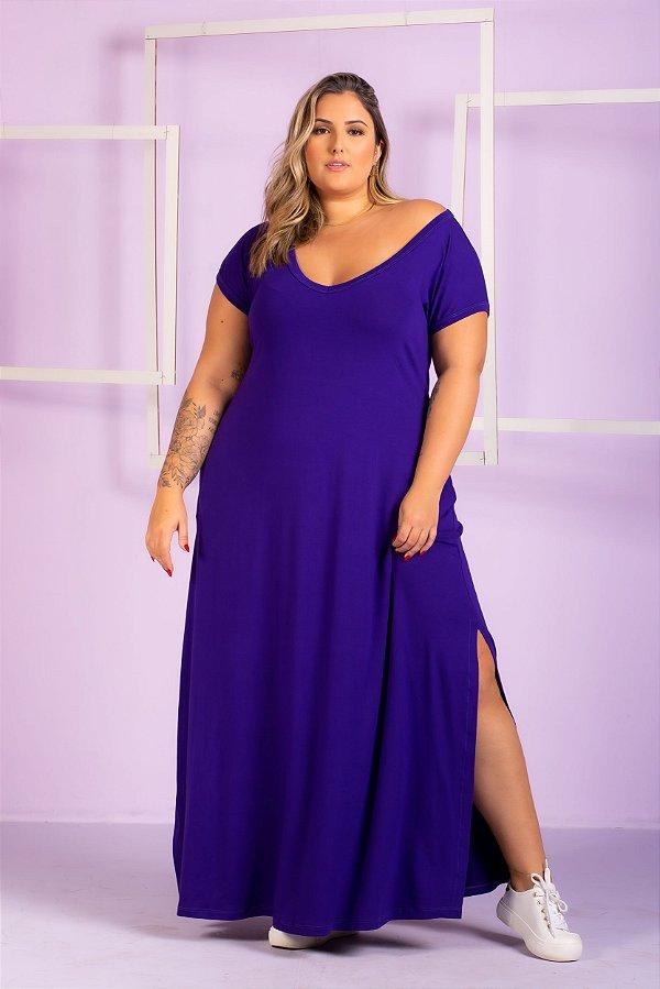 Vestido Longo de Malha Aurora Plus Size