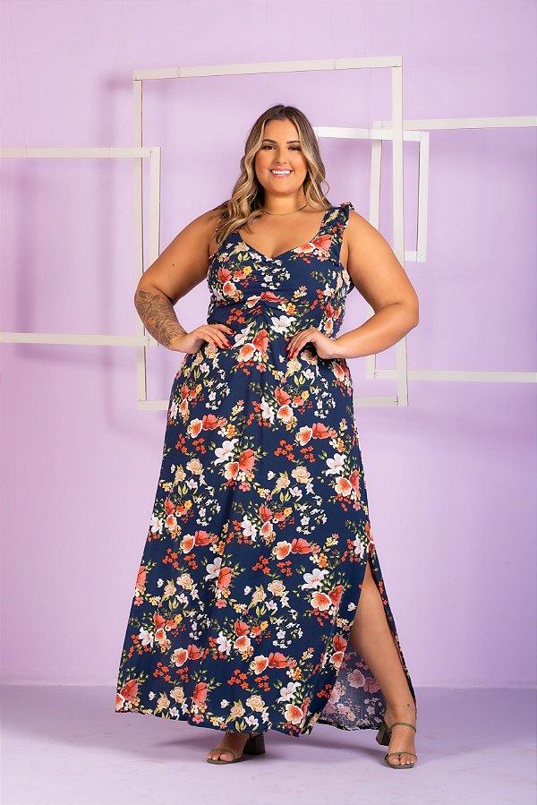 Vestido Longo Estampa Esther Plus Size