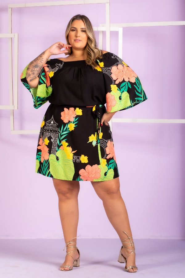 Vestido Estampado Nicole Plus Size