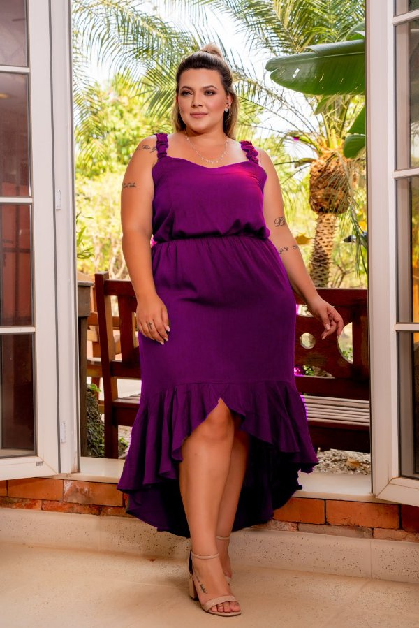 Vestido Longo Mirella Plus Size