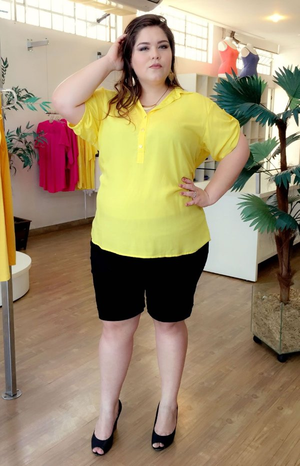 Camisa Casual Plus Size