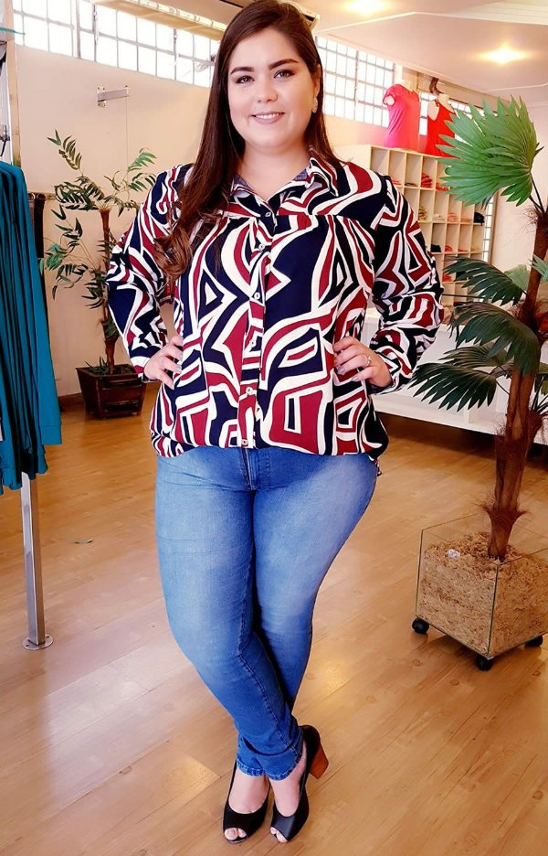 Camisa Scarlett Plus Size