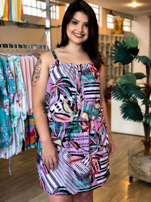 Vestido de Alcinha Charlote Tropical