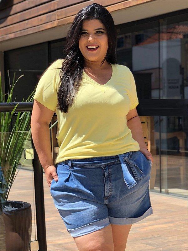 Blusa T-Shirt Amarela