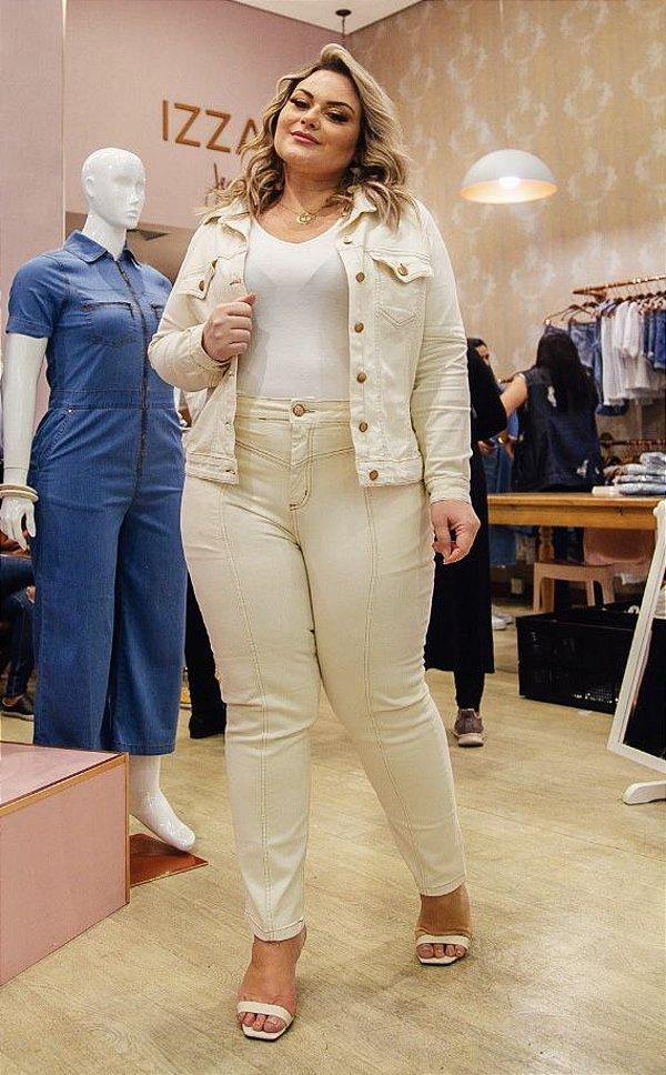 Jaqueta Jeans Off White Bordada