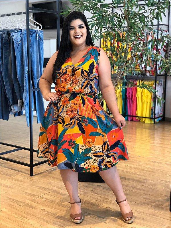 Vestido Walk Garden Plus Size