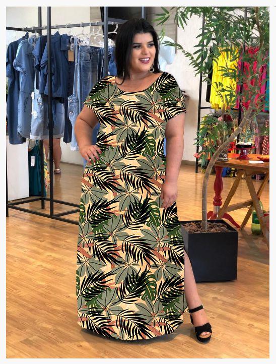 Vestido Longo Casual Forest