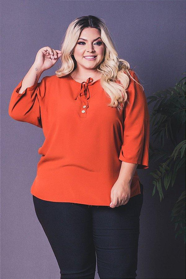 Blusa Million Orange Plus Size