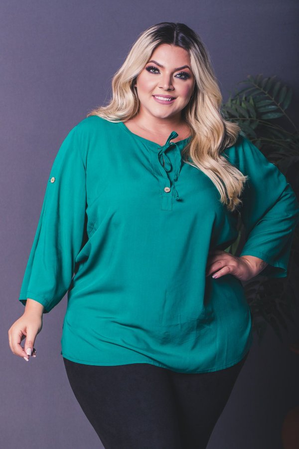 Blusa Million Green Plus Size