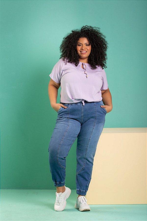 Blusa Girl Plus Size (Viscose com Elastano)