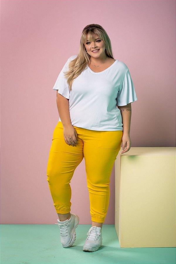 Calça Jogger de Bengaline Yellow