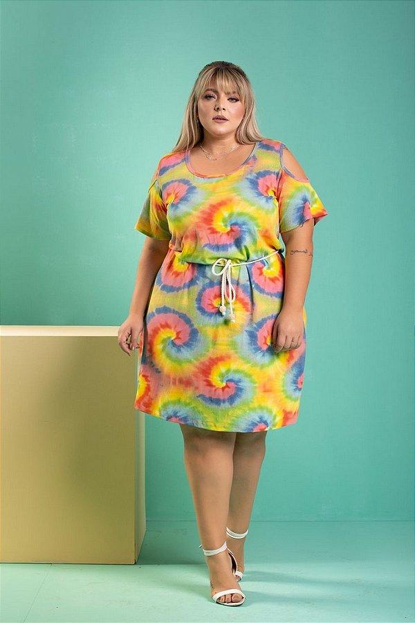 Vestido Tie Dye Plus Size