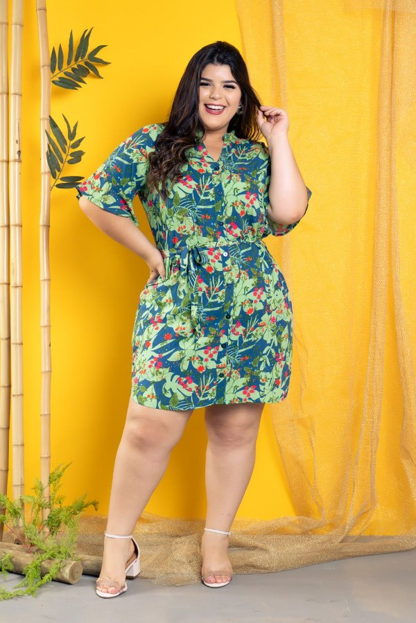 Vestido Chamisier Tropical Green