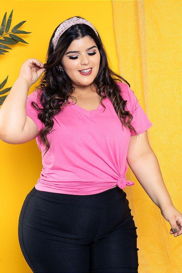 Blusa T Shirt Rosa Baby