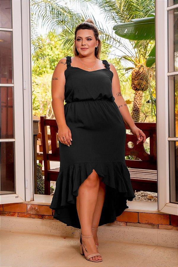 Vestido City Black Plus Size