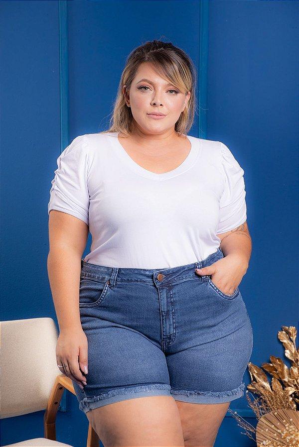 T-Shirt Clare Branca Plus Size