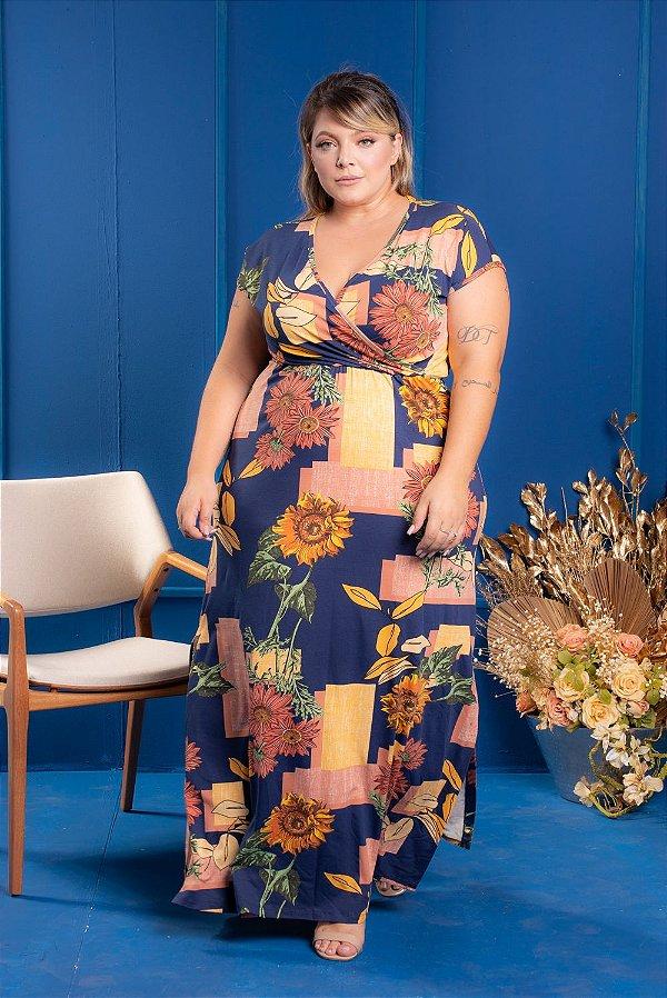 Vestido Long Digital Plus Size