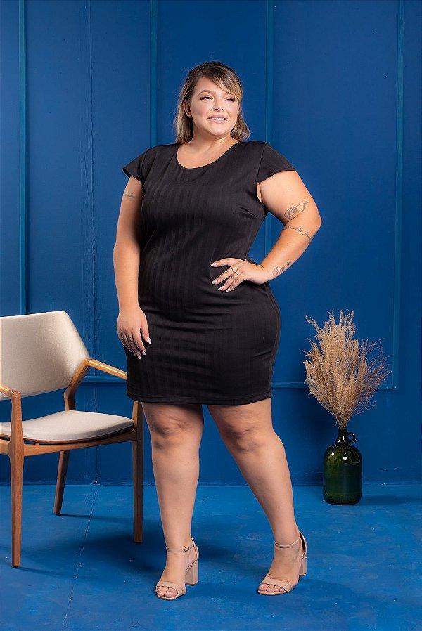 Vestido Tubinho Black Plus Size