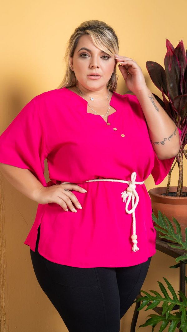 Blusa Heart Pink Plus Size