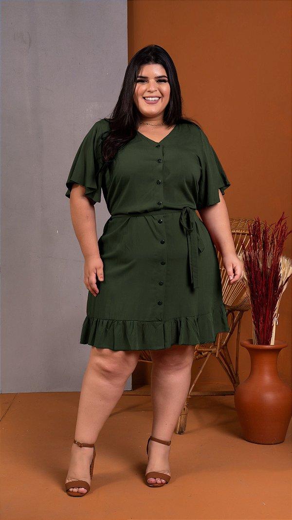 Vestido Florenza Verde Militar