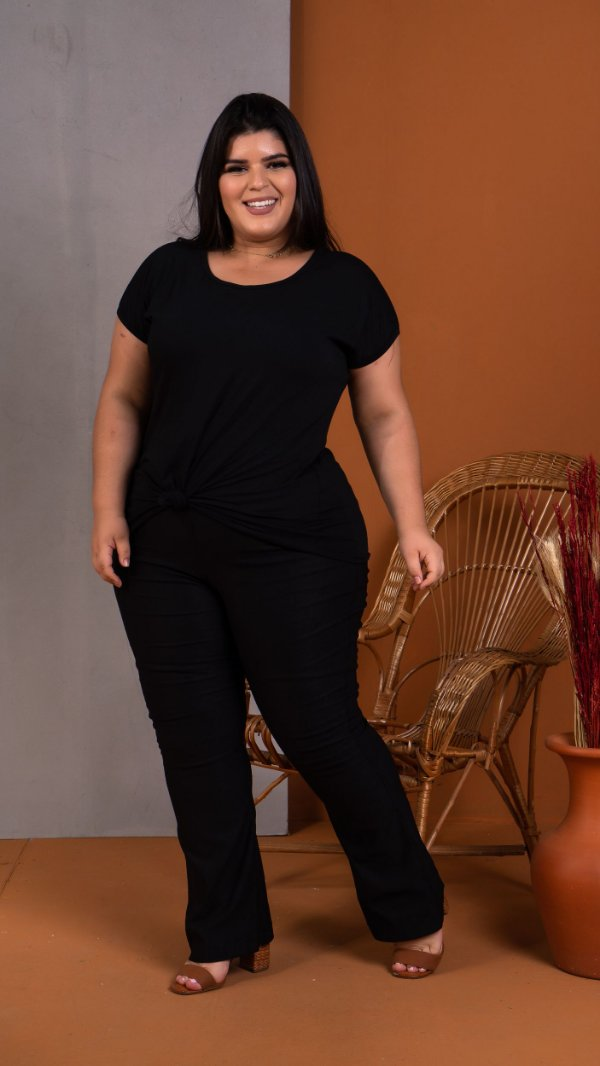T-Shirt Black Plus Size
