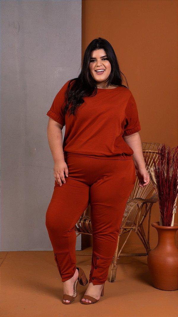 Blusa de Moletinho Trend Plus Size