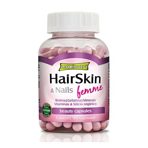 HairSkin & Nails Femme 500mg Maxinutri - 90 cáps