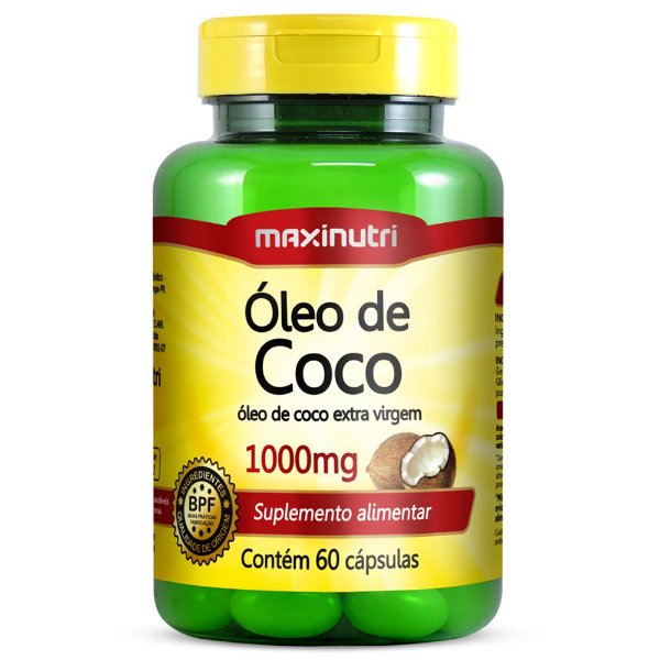 Óleo de Côco 1000mg - Maxinutri - 60 cps