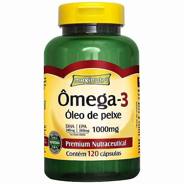 Omega 3 1000mg Maxinutri - 120cáps