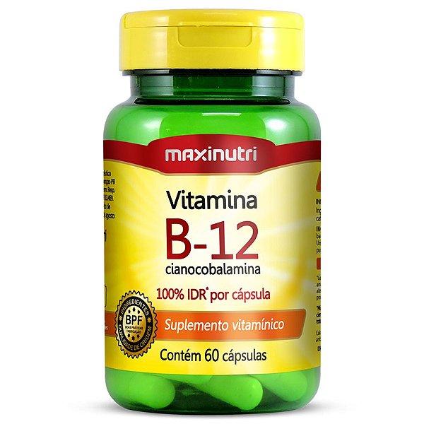 Vitamina B12 2,4mcg Maxinutri - 60 cáps