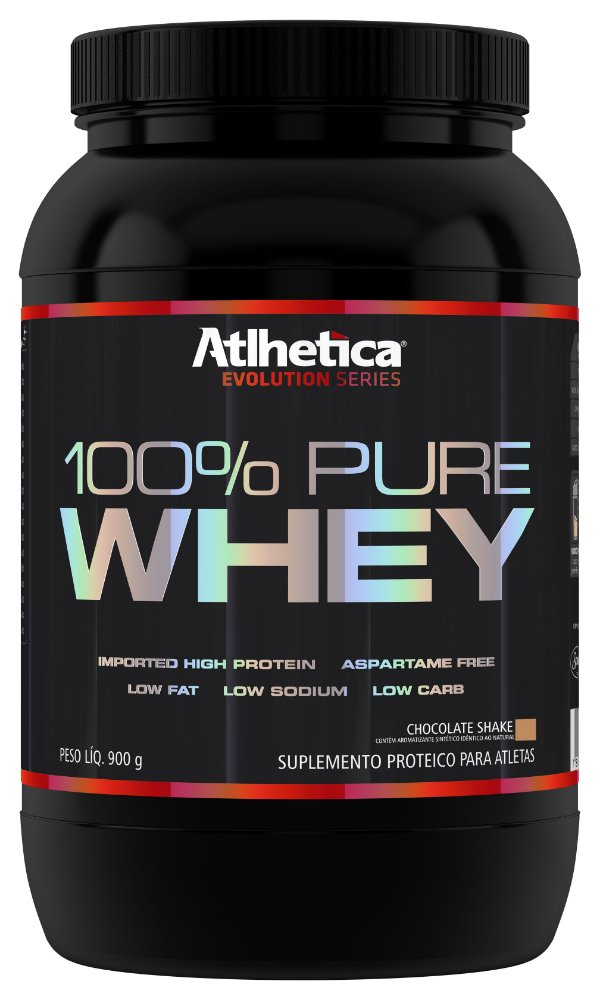 100% PURE WHEY (900G) CHOCOLATE - ATLHETICA NUTRITION