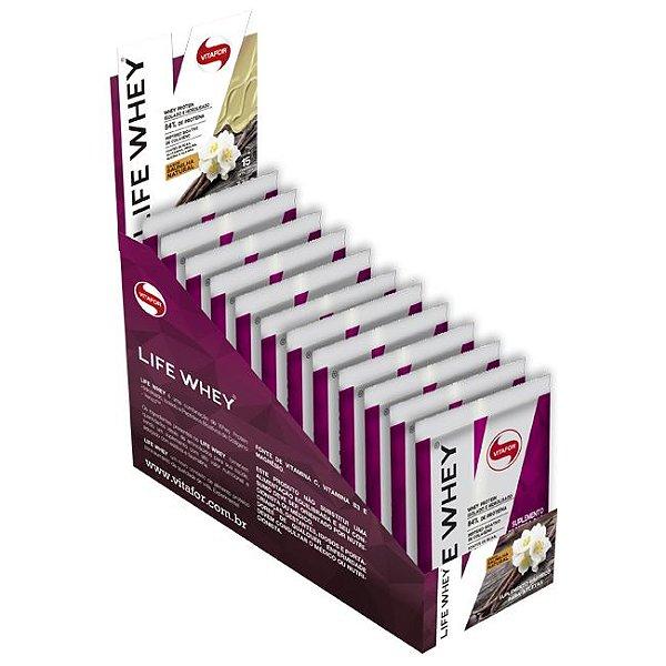 Life Whey Baunilha - Vitafor - 450g - 15 sachês