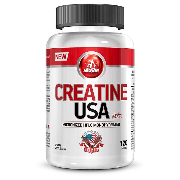 CREATINE USA - 120 tabs -MIDWAY