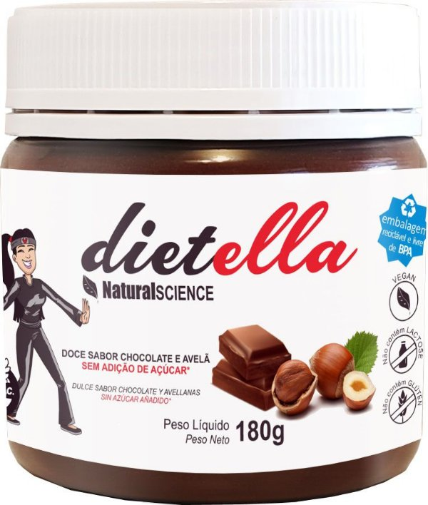 Dietella sabor chocolate a avelã - Natural Science - 180g