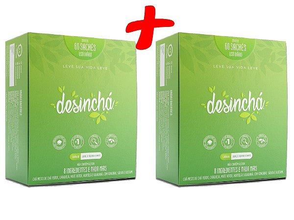 2 caixas de Desinchá Chá Original - 120 Sachês