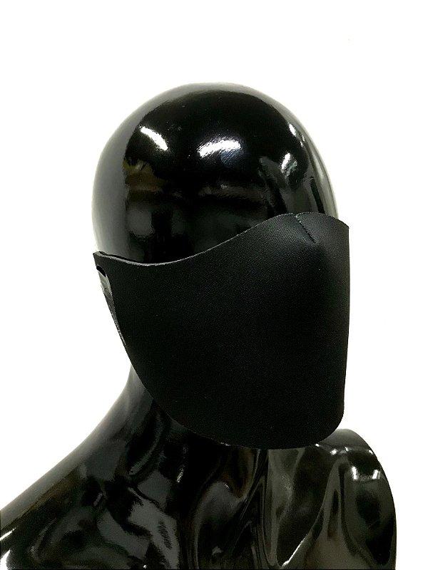 THE MASK: Máscaras Faciais em Neoprene  - Modelo Liso - Cor Preto