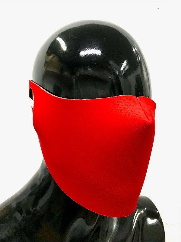 THE MASK: Máscaras Faciais em Neoprene  - Modelo Liso - Cor Vermelho Ferrari