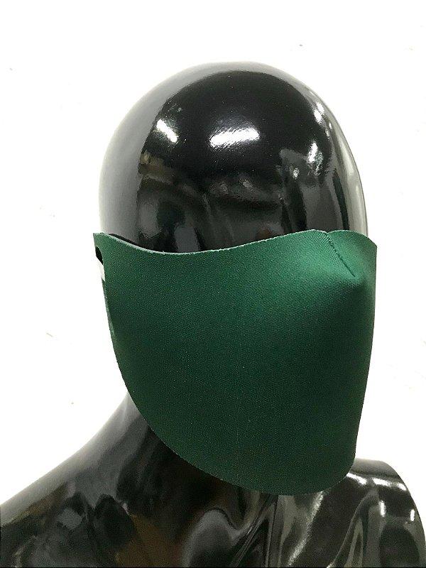 THE MASK: Máscaras Faciais em Neoprene  - Modelo Liso - Cor Verde Land
