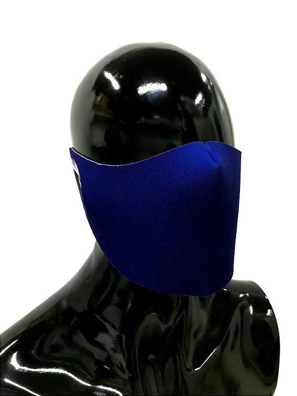 THE MASK: Máscaras Faciais em Neoprene  - Modelo Liso - Cor Azul Royal