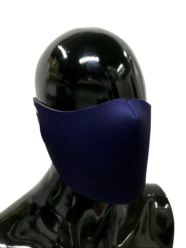 THE MASK: Máscaras Faciais em Neoprene  - Modelo Liso - Cor Azul Marinho