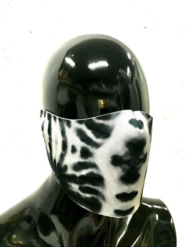 THE MASK: Máscaras Faciais em Neoprene  - Modelo TIE DYE - Cor Preto