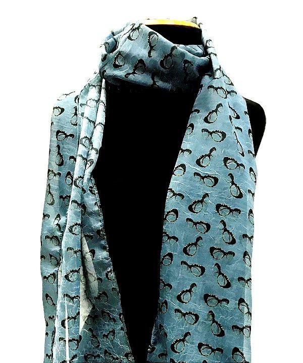 ECHARPE Modelo: BALEN cor Azul