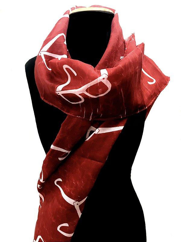 ECHARPE Modelo: STRACCIATTINA  cor Vermelho