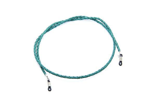 CORRENTE CORDÃO COURO Modelo: Cordão Trançado cor Verde