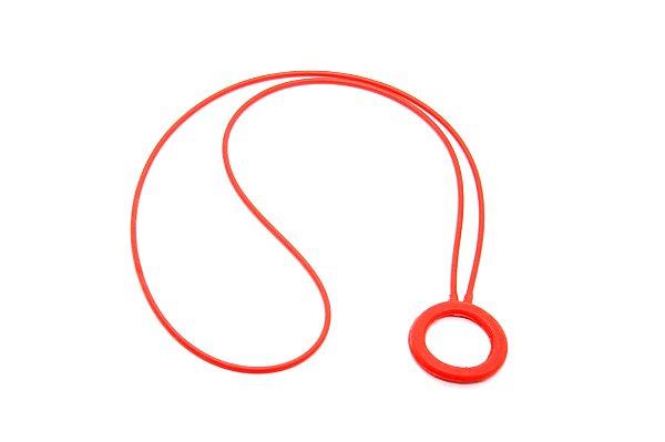 PINGENTE SICUREZZA Silicone Modelo: CÍRCOLO cor Vermelho