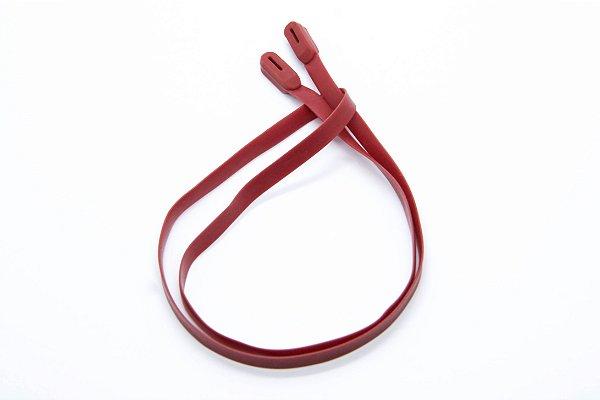 CORRENTE SICUREZZA SILICONE Modelo: GRIP LINGUINI cor Vermelho Pant