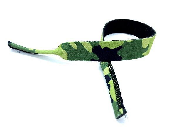 CORDÃO de Neoprene Adulto CAMUFLADO cor Verde
