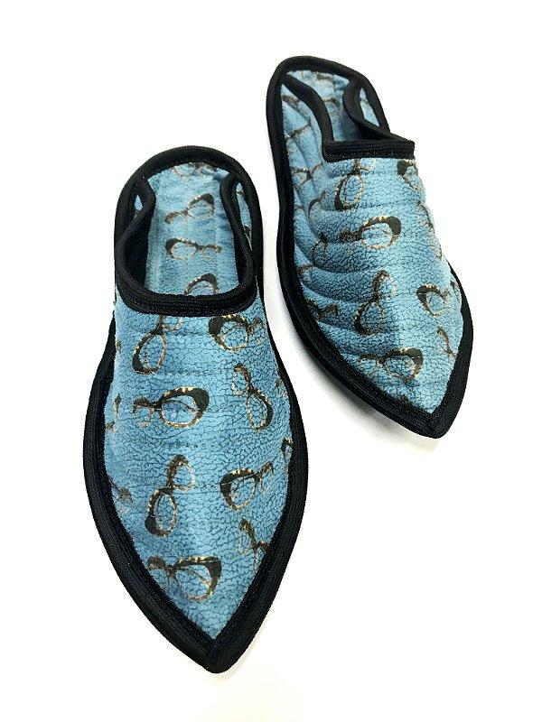CHINELO ORIENTE Sola de Couro Modelo: BALEN cor Azul