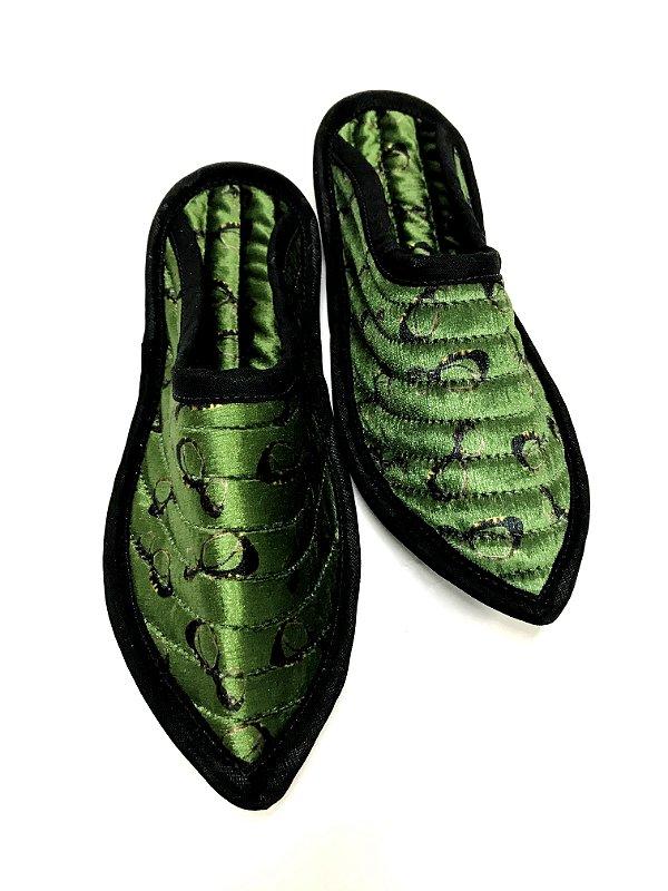CHINELO ORIENTE Sola de Couro Modelo: BALEN cor Verde