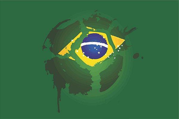 MICROFIBRA Limpeza Customizada Modelo: Bola Brasil